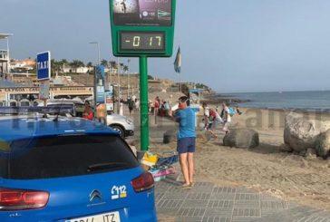 Strand von Meloneras geräumt und gepserrt - Kraftstoff entdeckt