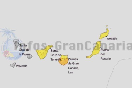Erneut Wetterwarnung wegen Hitze, Gran Canaria im Süden mit Stufe orange!