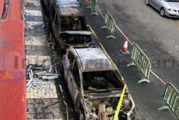 3 Fahrzeuge in Carrizal / Telde ausgebrannt