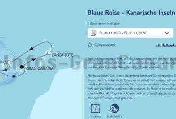 Erste Kreuzfahrt von TUI ab Gran Canaria mit der Mein Schiff 2 veröffentlicht