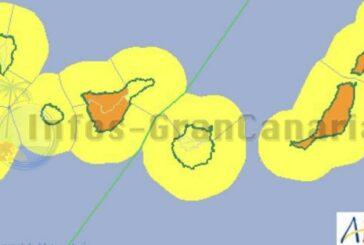 Wetterwarnung für Kanaren wurde für heute angehoben!