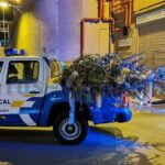 Warum hat die Polizei im CC Yumbo Weihnachtbäume entfernt?