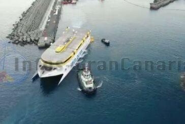 Beschädigte Fähre von Agaete nach Las Palmas überführt, Betrieb in Agaete wieder möglich