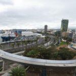 Fußgängerbrücke Onda Atlántica in Las Palmas kurz vor der Eröffnung