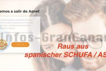 Ratgeber: Spanische Schufa, ja die gibt es (ASNEF) - Wie kommt man da wieder heraus?