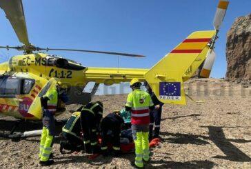 Hubschrauber rettet Wanderin am Roque Nublo