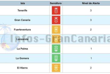 Corona-Ampel Kanaren: El Hierro rauf auf GELB, alles andere bleibt!