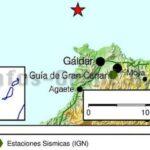 Am heutigen Karfreitag gab es ein Seebeben mit Stärke 2,1 vor der Küste von Gáldar