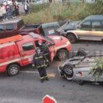 Auto überschlug sich auf der GC-21 in Teror – 1 Person verletzt