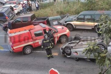 Auto überschlug sich auf der GC-21 in Teror - 1 Person verletzt