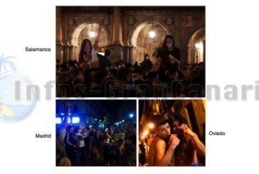 Ende des Alarmzustandes = Massenpartys in ganz Spanien mit zehntausenden Personen