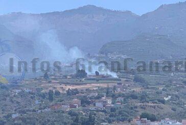 Brand in Santa Brígida betrifft 1 Hektar Fläche - Unter Kontrolle!