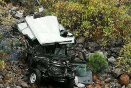 Auto stürzt in Gáldar in eine Schlucht - Autofahrer verstarb!