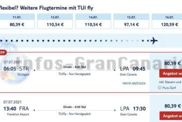 Mal wieder 33% Rabatt bei Tuifly für Flüge auf die Kanaren
