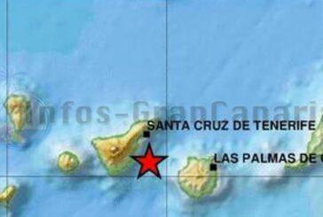 Zwischen Teneriffa & Gran Canaria gab es heute ein Seebeben der Stärke 2,5