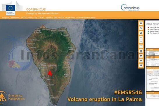 Betroffener Bereich des Vulkanausbruchs