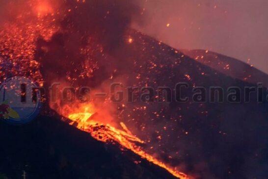 Der Vulkan spuckt weiter Lava aus