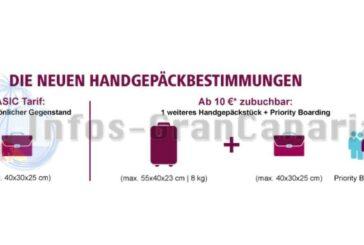 Eurowings hat neue Handgepäckbestimmungen für den BASIC-Tarif