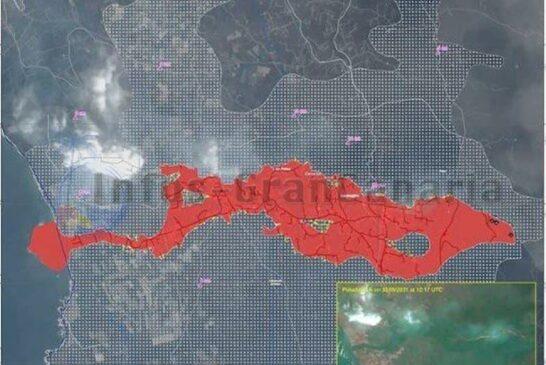 Lava bedeckte Landmasse