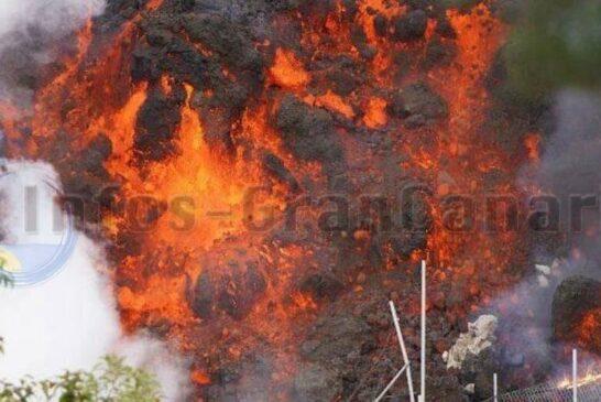Lava verschlingt alles
