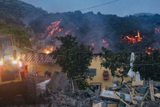 Zerstörte Gebäude La Palma